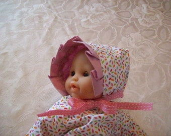 crush on infants or dolls of 30 cm tidoo, hug:, cotton print