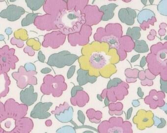 fabric coupon LIBERTY print pink pale betsy