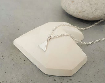 Necklace * just * silver with handmade triangle pendant