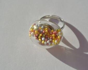 glass ball shape ring