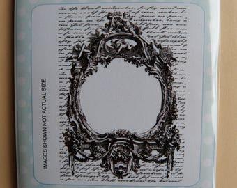 Christmas frame rubber stamp