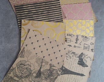 30 sheets of 15x15cm background papers