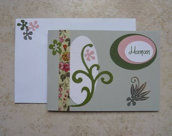 "Card double ""MOM"" mother's day"