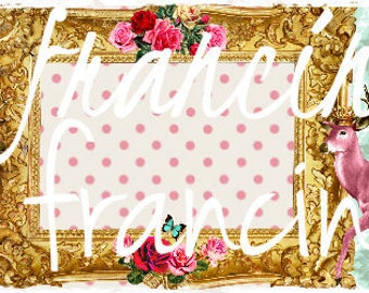 """""""Creating banner / header,"""" shabby chic banner DOE dear """", vintage to your ETSY shop, or other design is handmade."""