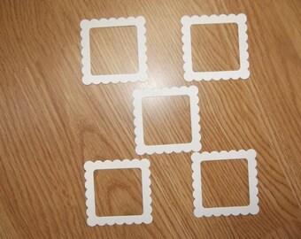 Set of 5 frames for scrapbooking.
