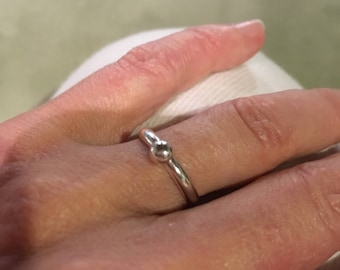 Dainty silver ring
