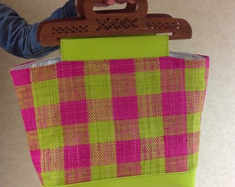 Worn rabane handmade tote bag