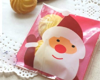 10 sachets bags pouches Father Christmas gift 13.5x10cm