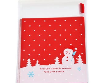 10 sachets bags pouches Father Christmas gift 15x10cm within 15 days