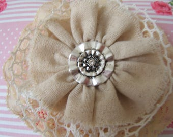 Shabby chic... Stunning antique lace flower and the central jewel