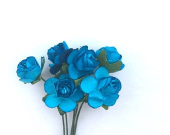 "Flower with adjustable stem ""blue"""
