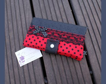 "portfolio ""in red and black"" faux leather"
