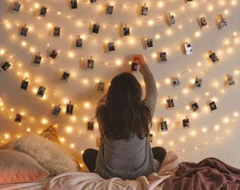 High Quality Fairy Lights, Photo Display, Picture Frame, Hanging Lights, Picture Frame  Collage,