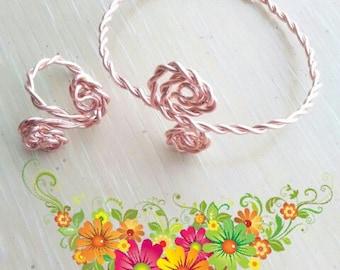 Copper Bracelet/Ring Set