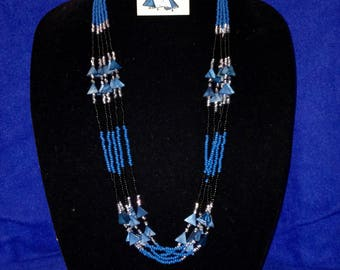 Blue, Black and Silver Triangle Set
