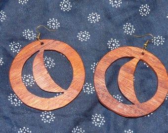 Earrings in precious wood: Luna
