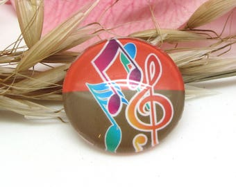 25 mm glass cabochon 1 Notes music treble clef 6-25 mm