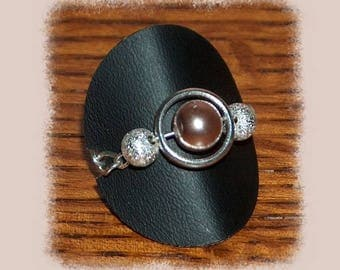 Ring silver ring and bead Siena