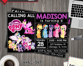 My Little Pony Invitation, little pony Birthday, little pony Printable, little pony Editable, little pony PDF, little pony edit, little pony