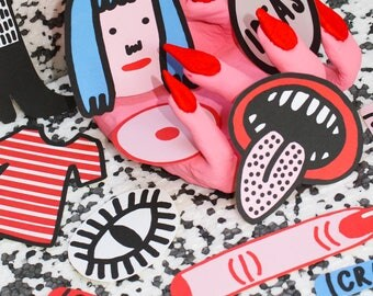 HIFFY STICKERS Sticker Set