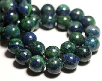 Chrysocolla 10pc - stone beads - balls 4mm 4558550037596