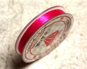 Coil 10 m - 0.8 - 1 mm elastic pink neon Fuchsia 4558550014146
