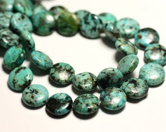 4pc - stone beads - African Turquoise natural beads 10 mm - 8741140015999