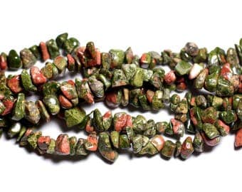 120pc-stone - Unakite Chips 5-12mm - 4558550036179 seed beads