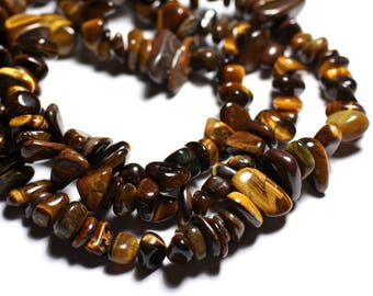 -Stone beads - 30pc Tiger big eye rock chips 6-16mm - 4558550089229