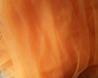 Mango orange soft tulle width 150 cm