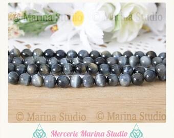 10 pearls 6mm Hawk Eye * 6mm blue tiger eye * Eagle * genuine pearls