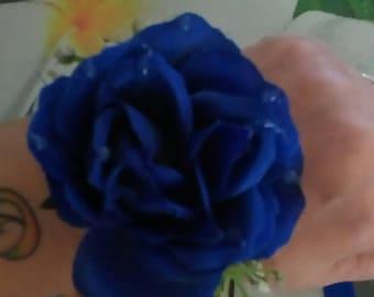 Navy flower bridesmaid bracelet