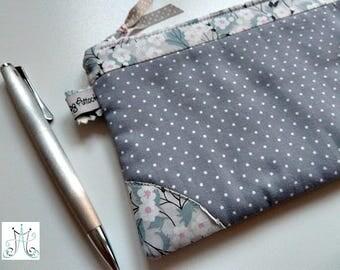 Kit Liberty Mitsi dove grey cotton with white dots