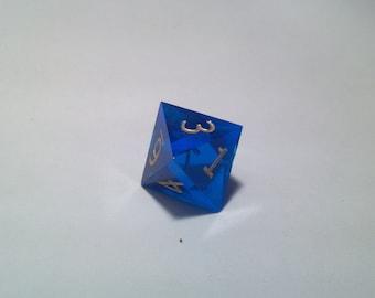 blue D8 gold ink