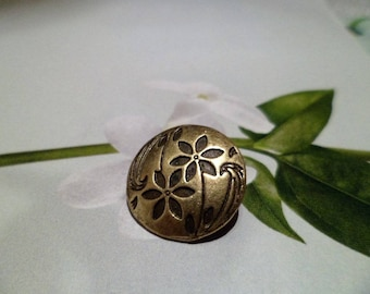 5 buttons jackets, coats, Jeans, 17 mm, Bronze flower Motifs