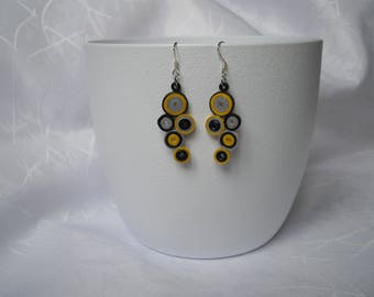 Paper quilling, modern earrings