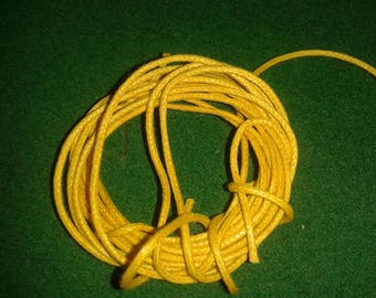 set of 3 cords braid yellow and orange cotton for your creations
