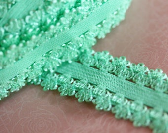 elastic Ribbon with green lace