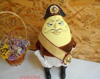 Prince Lemon, Interior textile toy, villain, Decor for home, Fairytale character, Handmade doll
