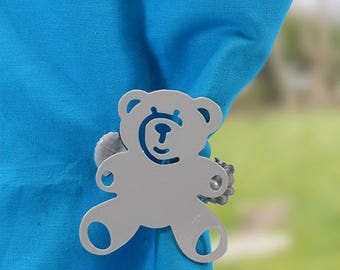 Kiss clip (pair) Teddy bear, various colors for curtain