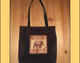 """Red elephant"" tote bag"