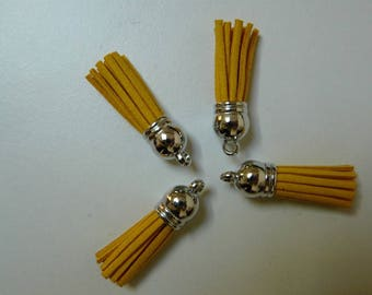 Yellow 38mm tassel suede