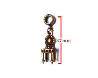 Bronze pendant No. 160 representing a Chair color. Charm bracelet. For jewelry making. Size approximately 37mm