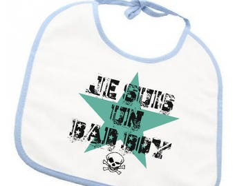 "Humorous bib ""I'm a bad boy"""