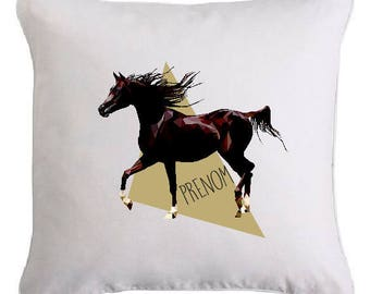 "Cushion ""horse"" personalized with text of your choice"