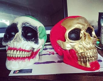 DC/MARVEL character skulls of your choice - gift - comic -nerdy -gameroom