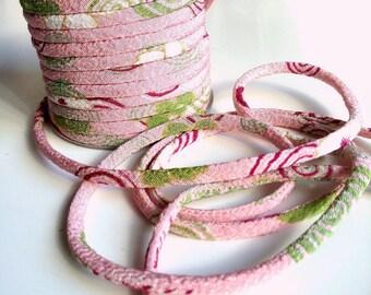 Japanese cords 2mm, Chirimen, pink (C3025-2)