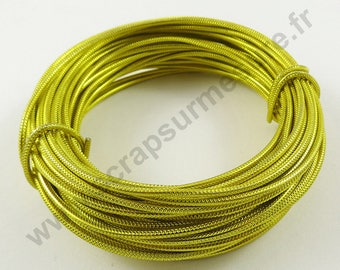 Transparent glass Ø 2 mm - yellow - x 5 m cable