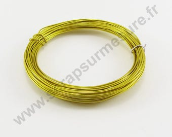 Ø 1 mm - yellow - x 2 m aluminium wire