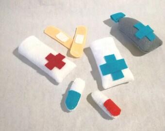 Pharmacy medicine felt toys